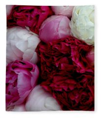 Peony Bouquet Fleece Blanket