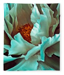 Peony Flower Fleece Blanket