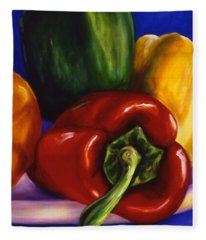 Peppers On Peppers Fleece Blanket