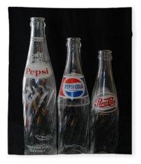 Pepsi Cola Bottles Fleece Blanket
