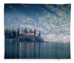 Perast Church Fleece Blanket