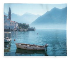 Perast Montenegro Fleece Blanket