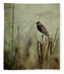 Perched On A Reed Fleece Blanket
