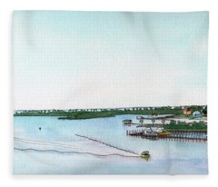 Perdido Key Bay Fleece Blanket