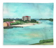 Perdido Key River Fleece Blanket