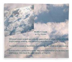 Perfect Clouds Fleece Blanket