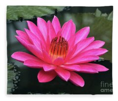 Perfect Pink Petals Of A Waterlily Fleece Blanket