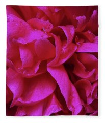 Perfectly Pink Peony Petals Fleece Blanket
