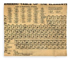 Periodic Table  Of The Elements Fleece Blanket