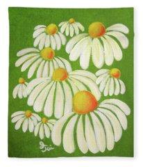 Perky Daisies Fleece Blanket