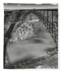 Perrine Bridge Fleece Blanket