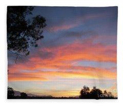 Sunrise Overall  America A Christian Nation   Fleece Blanket