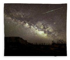 Perseids Milky Way Fleece Blanket