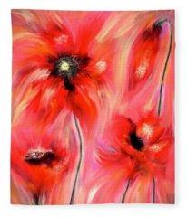 Flanders Fields Digital Art Fleece Blankets