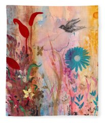 Persephone's Splendor Fleece Blanket