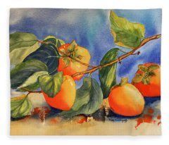 Persimmons Fleece Blanket