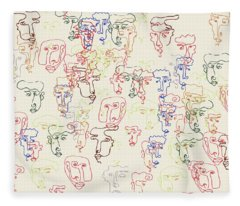 Fleece Blanket featuring the drawing Perspective by Cortney Herron