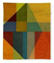 Perspective In Color Collage Fleece Blanket