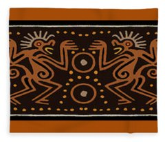 Peruvian Inca Indians Fleece Blanket