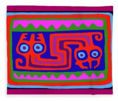 Peruvian Inca Serpent Fleece Blanket