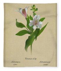 Peruvian Lily Botanical Fleece Blanket