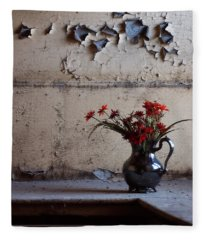 Petals And Peeling Paint - Preston Castle Fleece Blanket