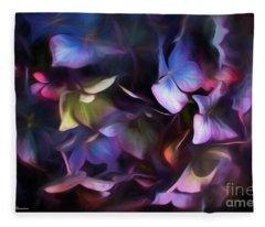 Petals Of Hydrangea Fleece Blanket