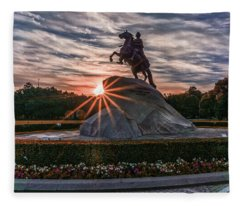 Peter Rides At Dawn Fleece Blanket