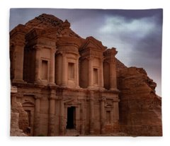 Petra's Monastery Fleece Blanket