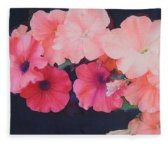 Petunias Fleece Blanket