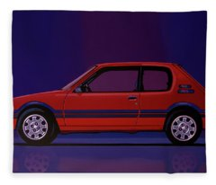 Peugeot 205 Gti 1984 Painting Fleece Blanket
