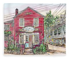 Pewter Shop, Rockport Massachusetts Fleece Blanket