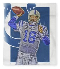 Peyton Manning Indianapolis Colts Oil Art Fleece Blanket