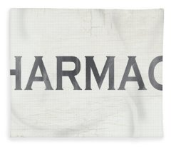 Pharmacy Sign- Art By Linda Woods Fleece Blanket