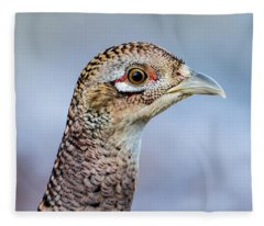 Pheasant Hen Fleece Blanket