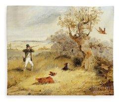 Pheasant Shooting Fleece Blanket