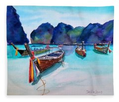 Phi Phi Island Fleece Blanket