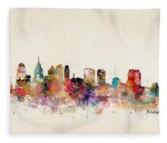 Philadelphia Pennsylvania Fleece Blanket