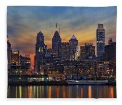 Philadelphia Skyline Fleece Blanket