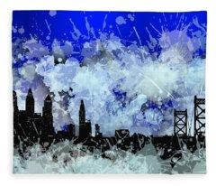 Philadelphia Skyline.1 Fleece Blanket