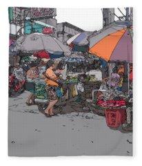 Philippines 708 Market Fleece Blanket