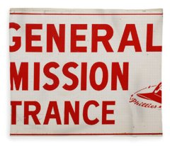 Phillies General Admission Sign From Connie Mack Stadium Fleece Blanket