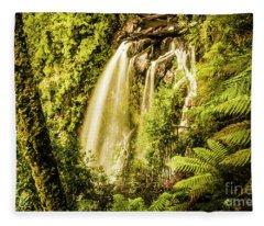 Philosopher Falls, Western Tasmania Fleece Blanket