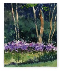 Phlox Meadow, Harrington State Park Fleece Blanket