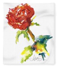 The Phoenix Rose Fleece Blanket