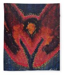 Phoenix Rising Original Painting Fleece Blanket