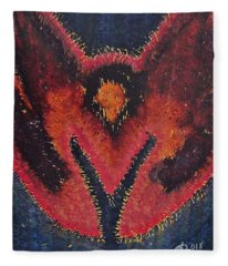 Phoenix Rising Original Painting Fleece Blanket