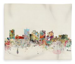 Phoenix Skyline Fleece Blanket