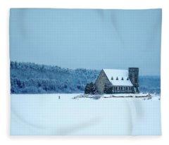 Photographer On Thin Ice Fleece Blanket