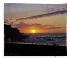 Photographer's Sunset Fleece Blanket